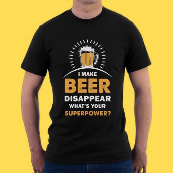 Vos habitudes modes 2017 à oublier, en route pour 2018 ! Homme men tendance outfit t-shirt marque slogan word sentence beer bière nouvel an