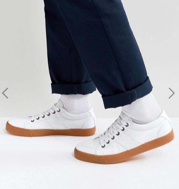 idée de tenue homme sneakers blanche en toile