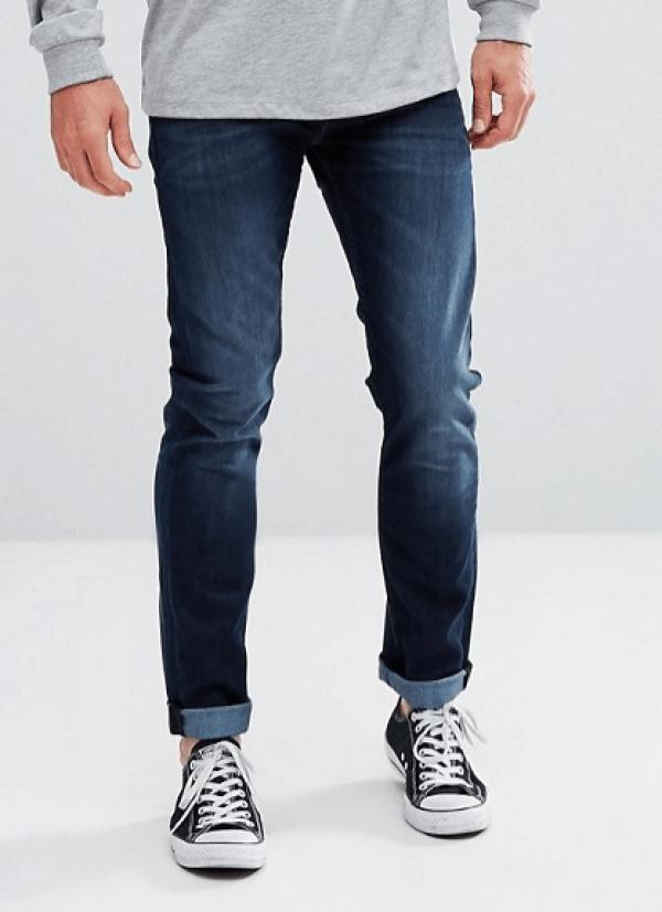 idée de tenue homme jean bleu foncé