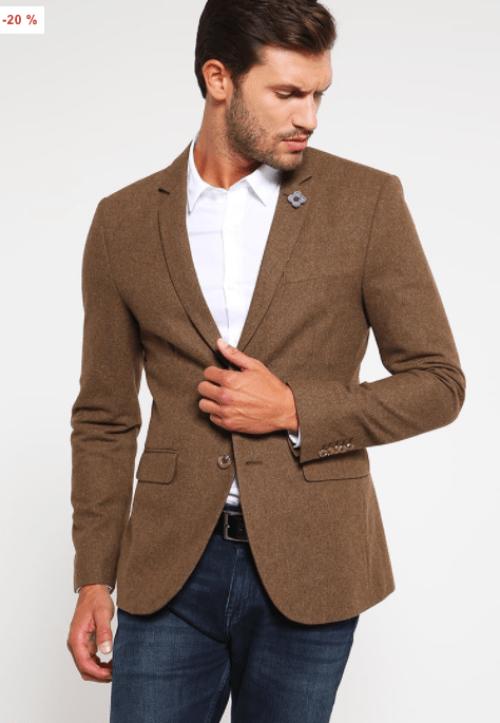 veste blazer marron pour homme