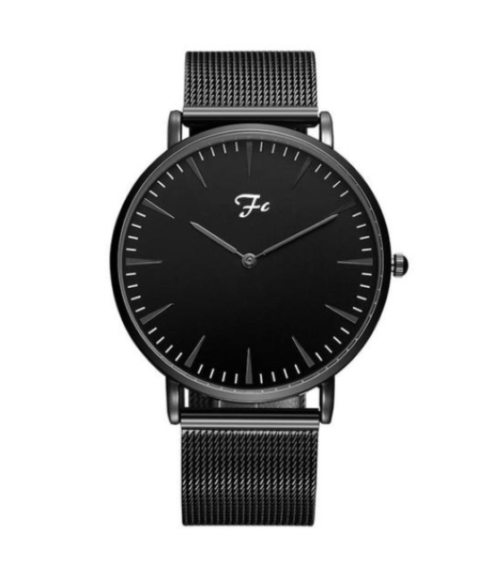 montre french custom noir bracelet en métal