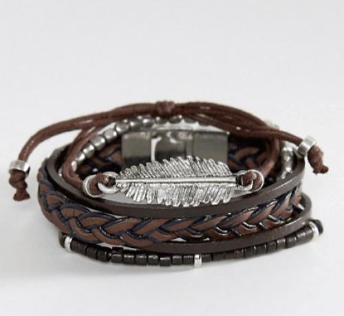 look pour homme lot de bracelet tressés en cuir