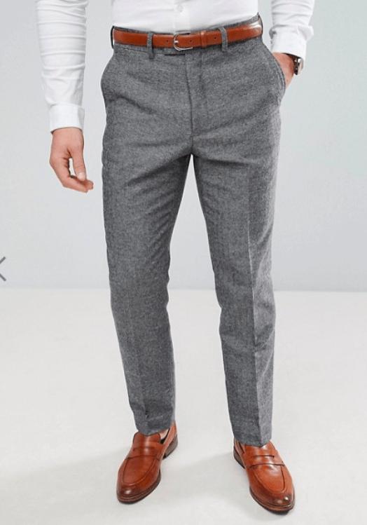 idée de tenue pour homme pantalon de costume en laine@