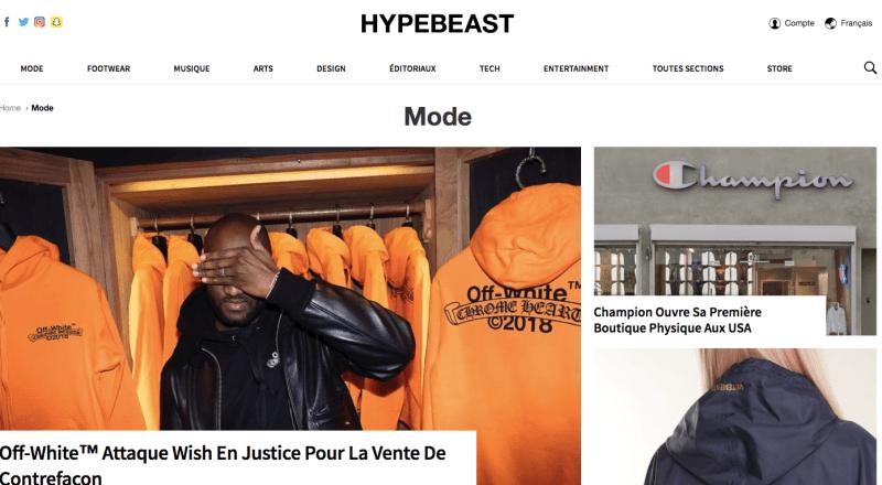 les 15 blogs de mode homme à suivre hypebeast