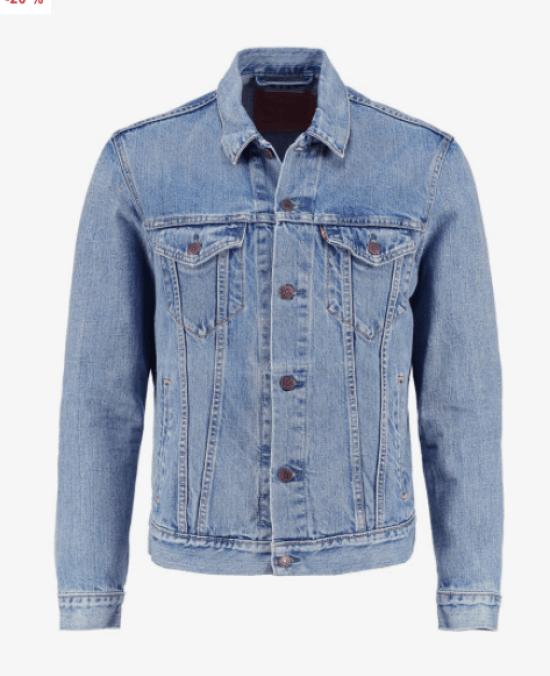 idée de look homme veste en jean levis
