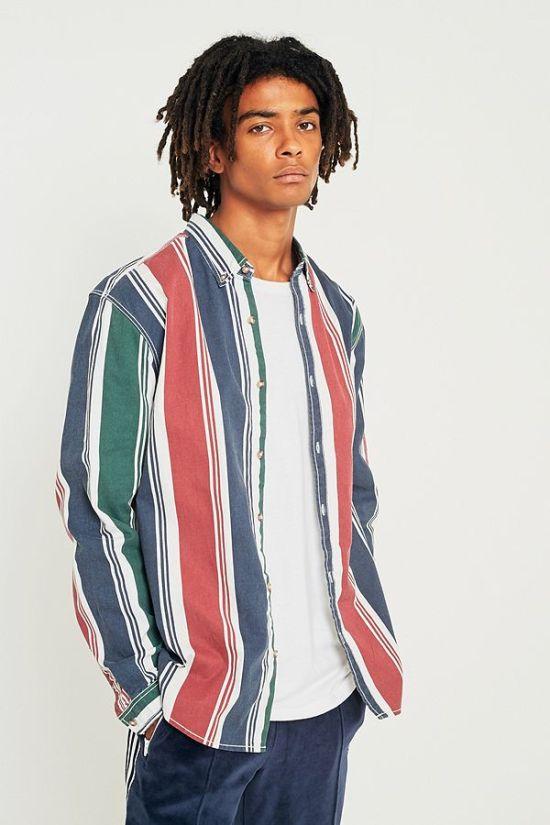 idée de look homme tendance style vintage chemise à rayures