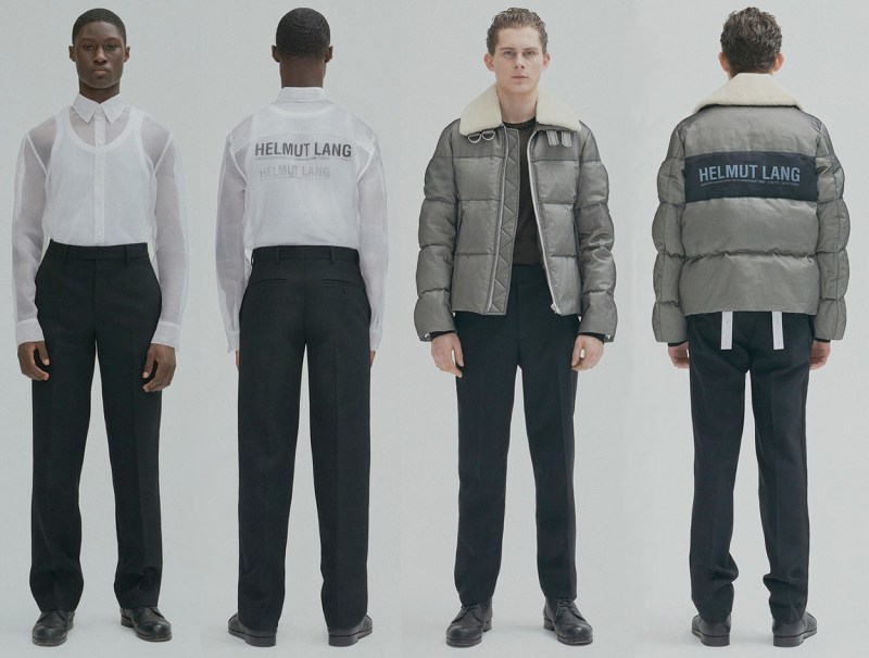 Helmut Lang Top 5 marques de créateurs du moment collection de vêtements