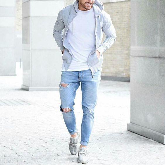 comment bien porter le sweat-shirt avec zip et capuche