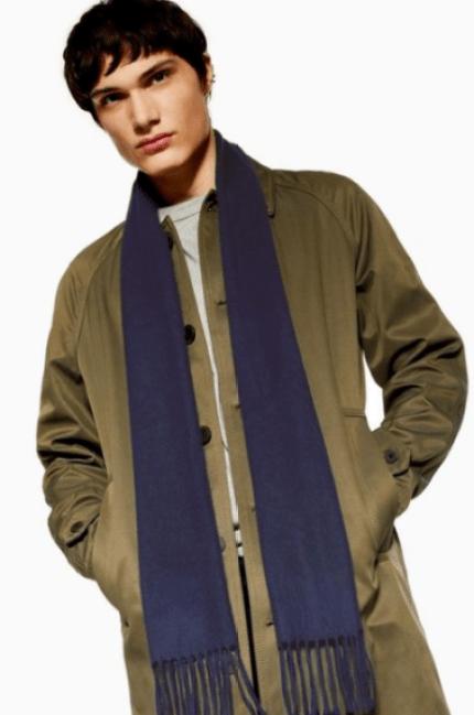 Echarpe bleu Topman idée de look habillé