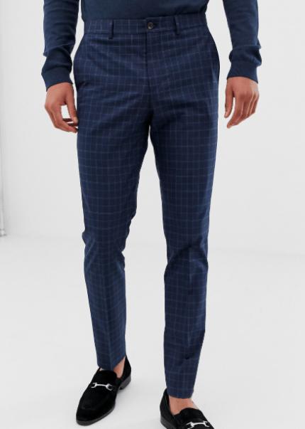 Pantalon bleu Jack & Jones Premium idée de look classe