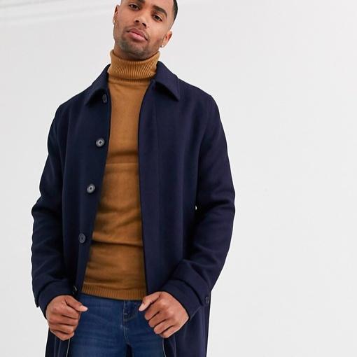 hiver manteau look bleu homme long