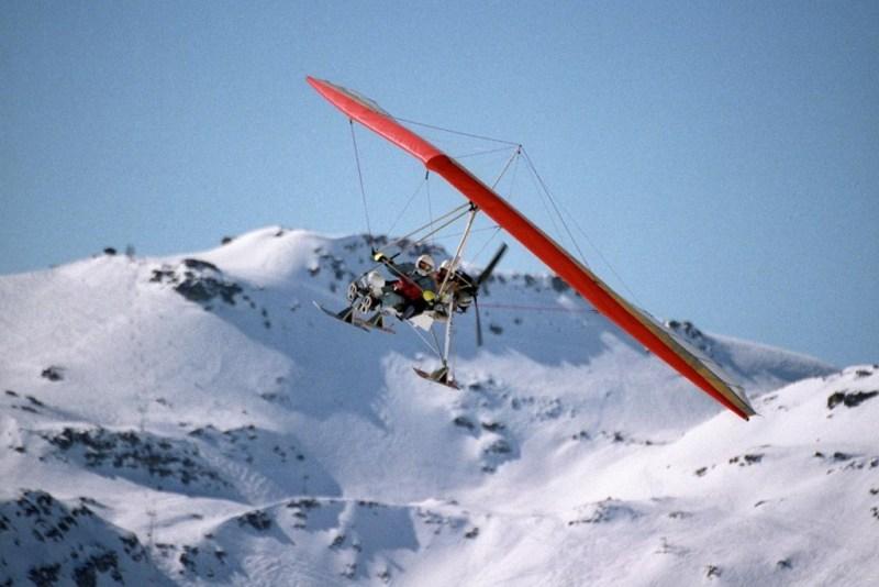 ULM pendulaire avion ski hiver montagne