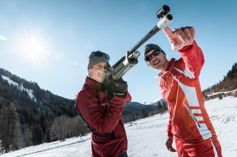 Biathlon sport neige hiver
