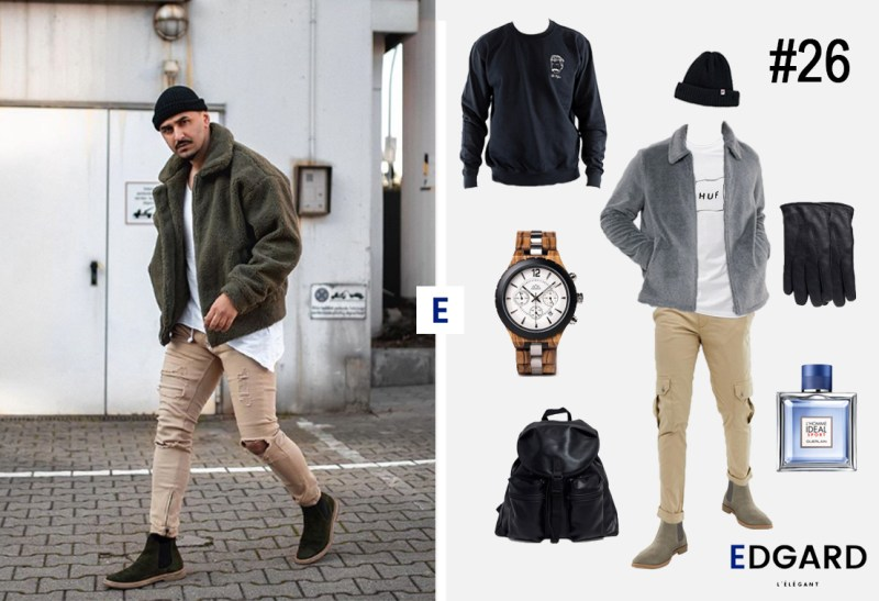 Look casual idée homme sport soldes hiver