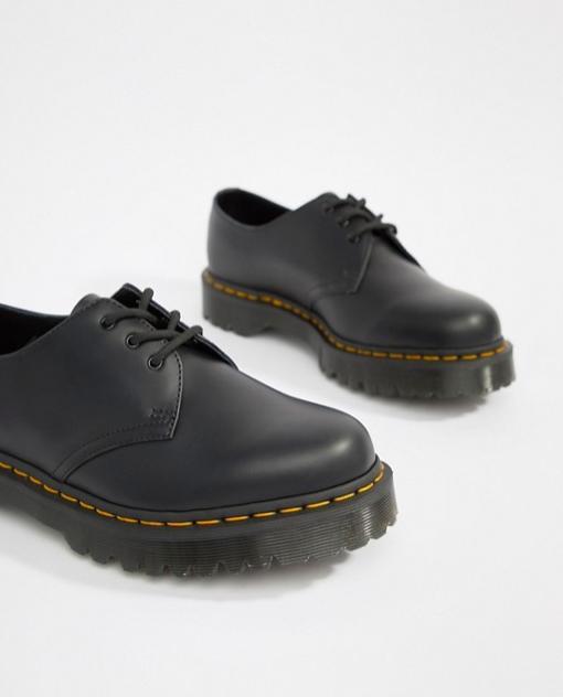 chaussures Dr martens noires homme compensées