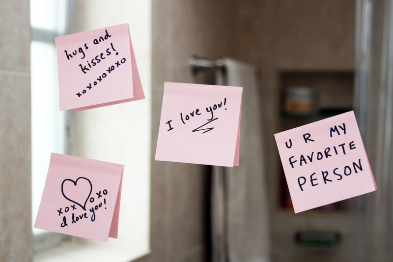 lettre amour Saint Valentin mot surprise