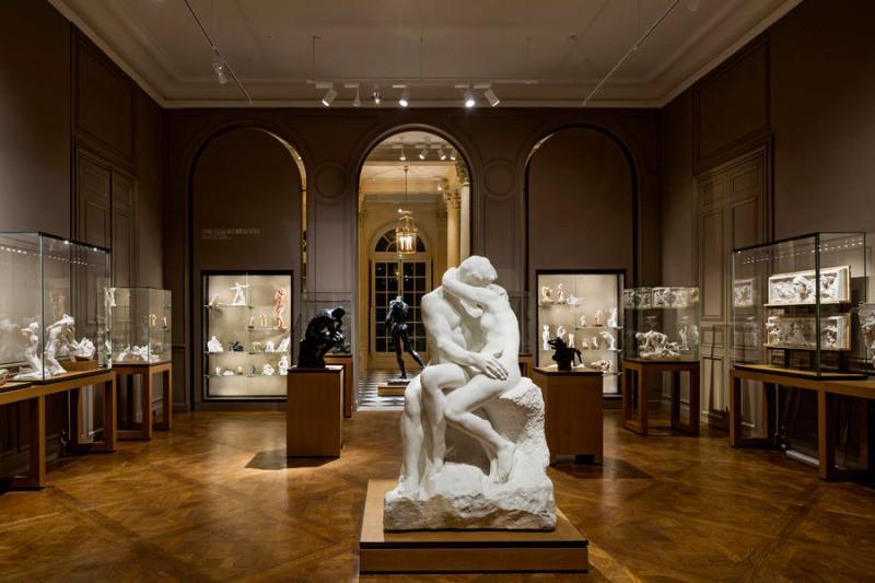 Rodin musée soirée saint valentin baiser sculpture