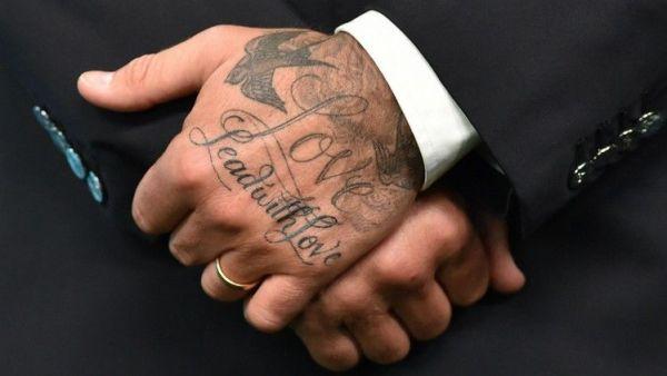 tatouages à la mode david beckham