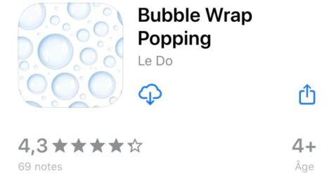applications les plus bizarres Bubble wrap popping