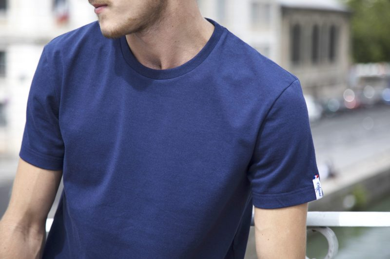tshirt bleu éco-responsable Edgard Paris