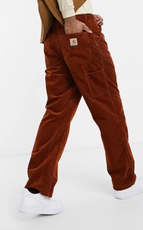 pantalon velours hiver matière chaude