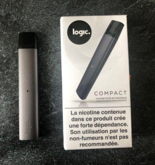 logic compact cigarette électronique noire vapoter