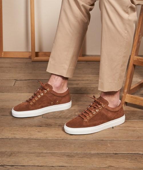 sneakers chocolat homme paire & fils semelle épaisse