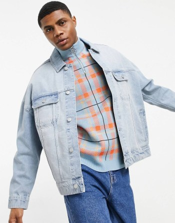 Look 40 Veste en jean oversize
