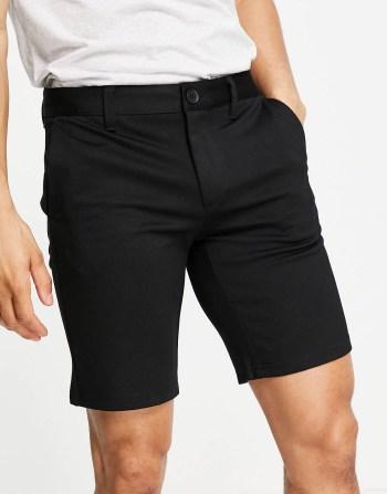 Idée de look41 Only & Sons Short chino noir