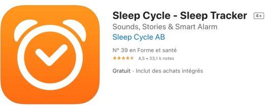 Applications pour mieux dormir Sleep Cycle
