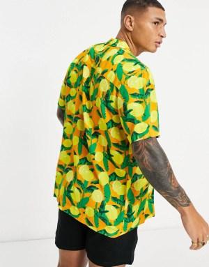 Chemise à imprimé citron