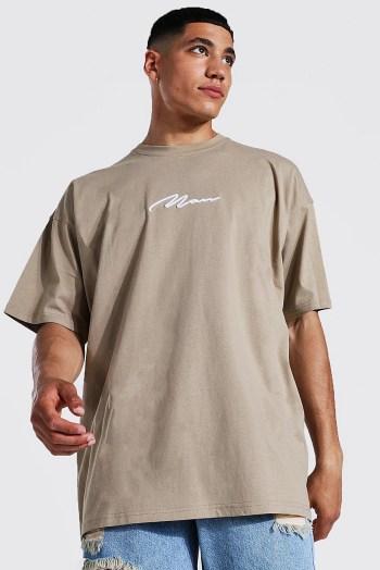 T-shirt oversize brodé man Boohoo