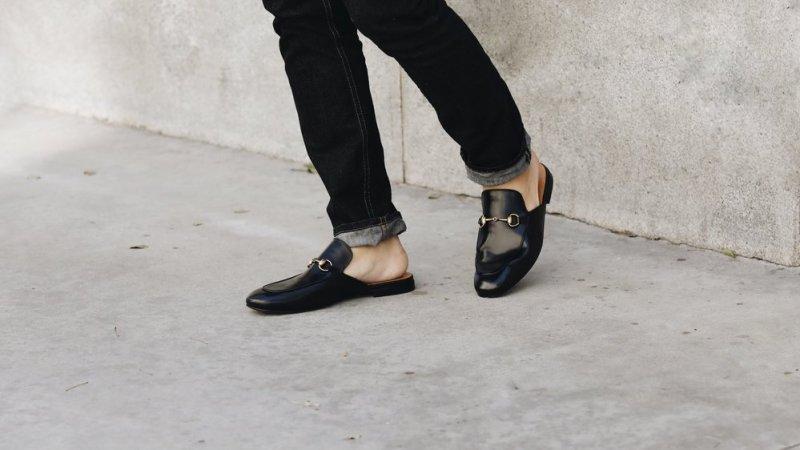 Les meilleures imitations de chaussures de luxe Mocassins Princetown Gucci