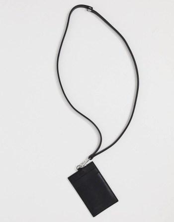 Portefeuille à bandoulière en cuir ASOS DESIGN