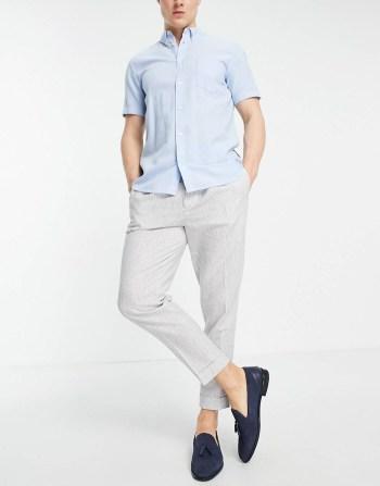 Pantalon habillé en lin ASOS DESIGN