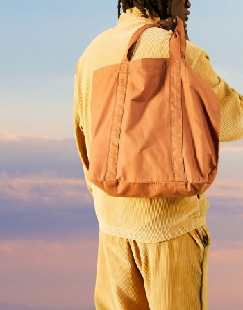 Idée de look d'été Sac Tote bag oversize en coton tabac ASOS DESIGN