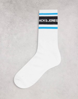Chaussettes à rayures bleu Jack & Jones
