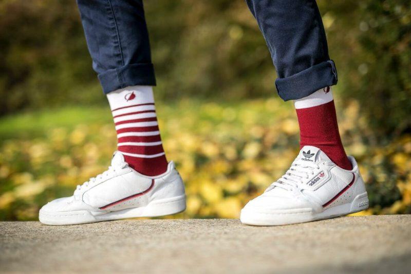 chaussettes socks bordeaux antipode