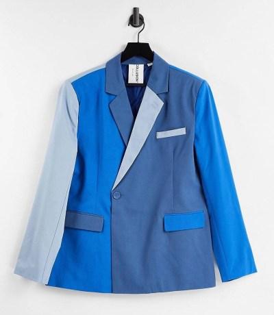 Blazer oversize bleu ton sur ton COLLUSION
