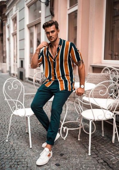 Tenue homme chemise synthétique