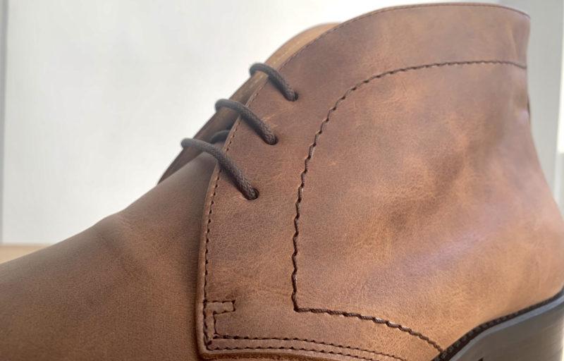 détails de coutures et des finitions des boots personnalisable Hockerty