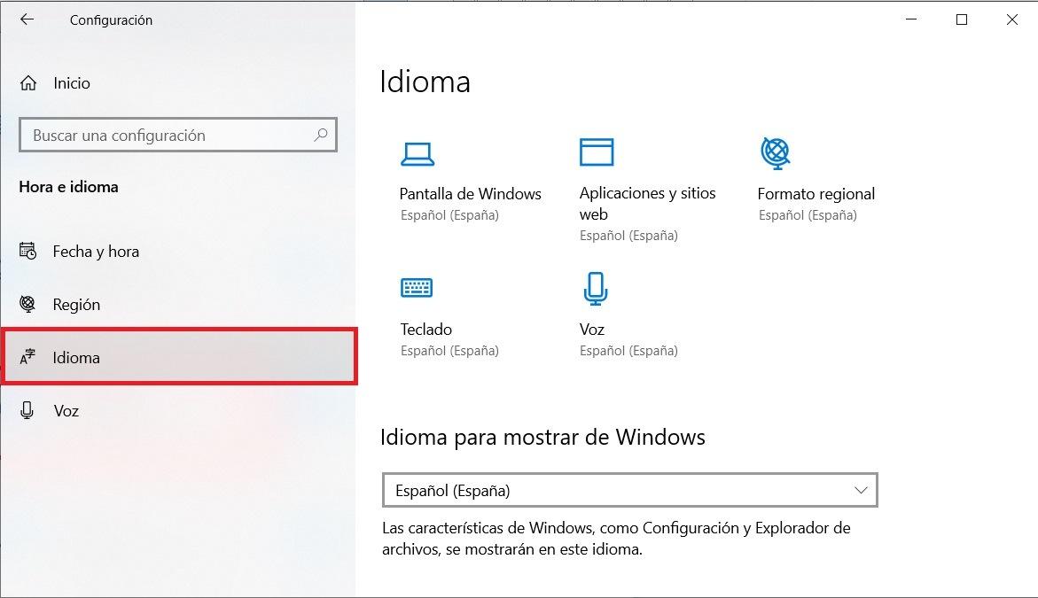 Cómo cambiar el idioma en Windows 10