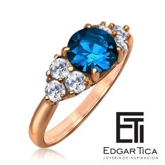 Anqas killa anillo de matrimonio de oro rosado 18k
