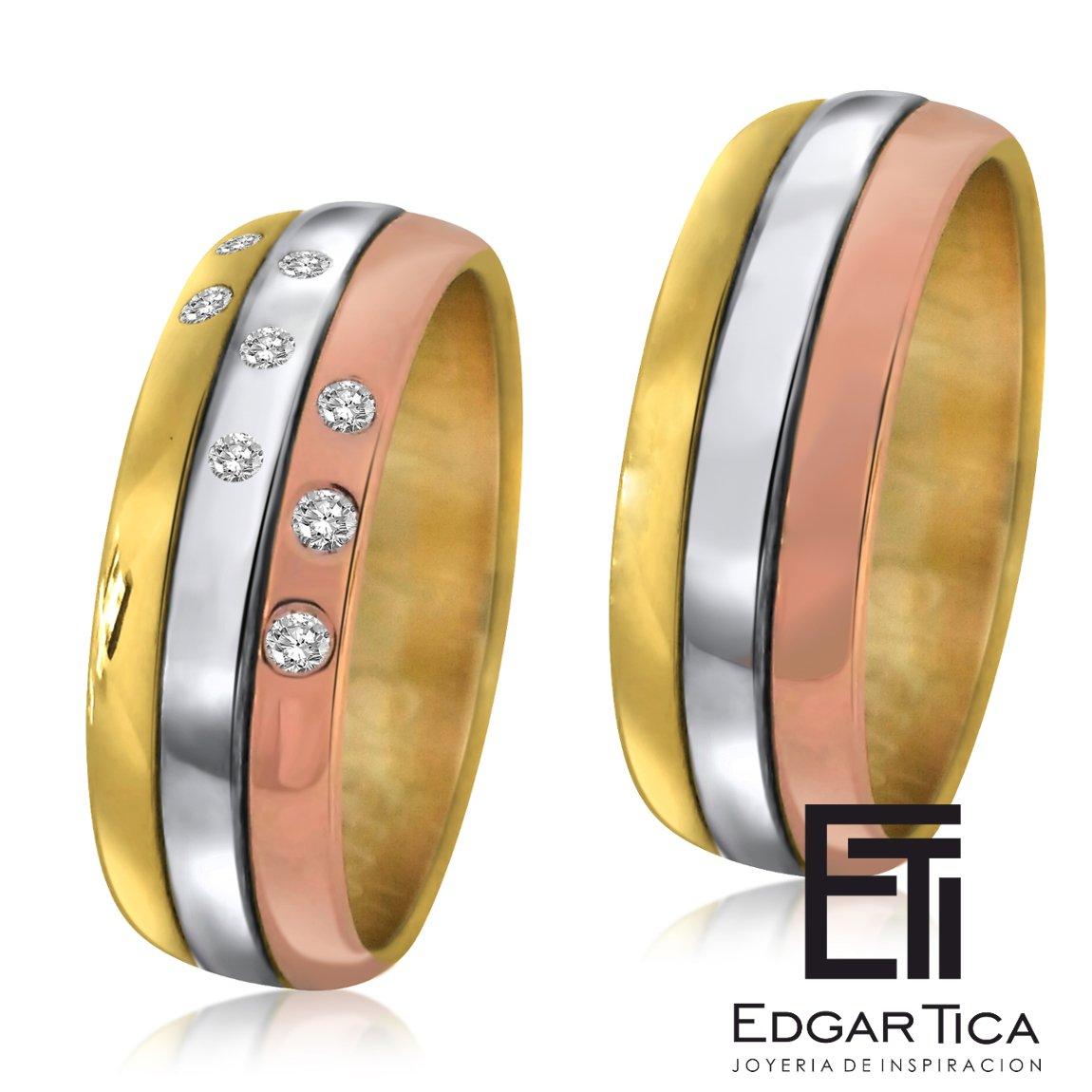 40570a08ea8b Anillos de matrimonio de oro blanco