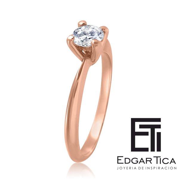 Anillo de compromiso joyería peruana online Edgar Tica - Munakuy oro 18k rosado