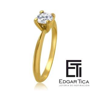 Anillo de compromiso joyería peruana online Edgar Tica - Munakuy oro 18k amarillo