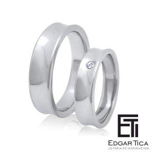 Anillo de compromiso joyería peruana online Edgar Tica - Waylluy oro 18k blanco