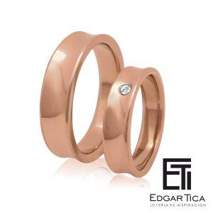 Anillo de compromiso joyería peruana online Edgar Tica - Waylluy oro 18k rosado