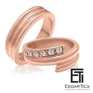 Apay aros de boda oro 18k Edgar Tica joyería peruana online