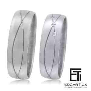 Away aros de boda oro 18k Edgar Tica joyería peruana online
